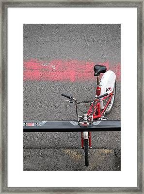 Barcelona Spain Bicycle Framed Print