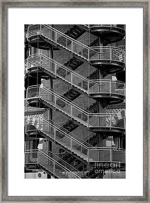 Barcelona Stairs II Framed Print by Louise Fahy