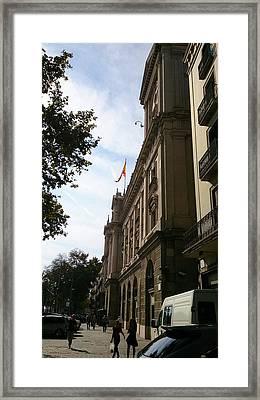 Barcelona Street Framed Print