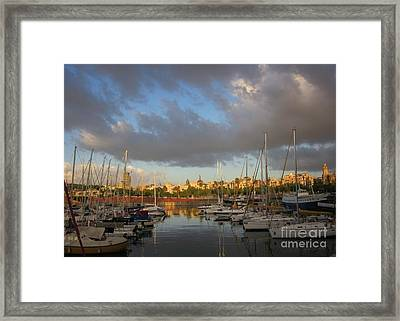 Barcelona Sunrise Framed Print