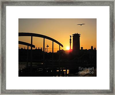 Barcelona Sunset Framed Print