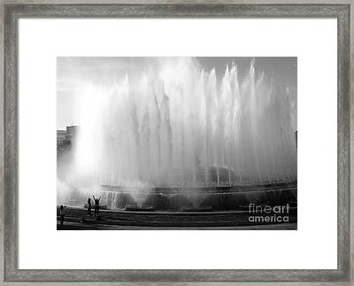 Barcelona Water Fountain Joy Framed Print