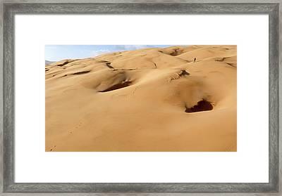 Barchan Dunes Framed Print