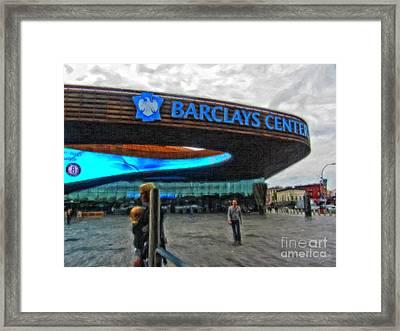 Barclays Center Brooklyn Framed Print