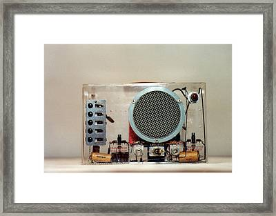 Bardeen Transistor Music Box Framed Print by Emilio Segre Visual Archives/american Institute Of Physics