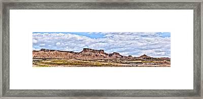 Bardenas Desert Panorama 1 Framed Print