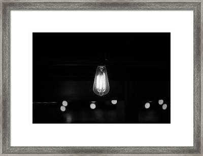 Bare Bulb Framed Print