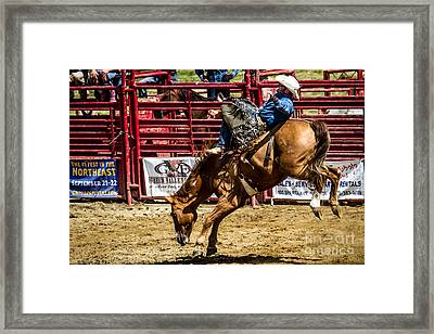 Bareback Riding Framed Print