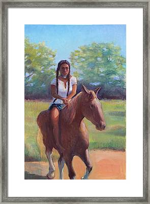Bareback Riding Framed Print by Gwen Carroll