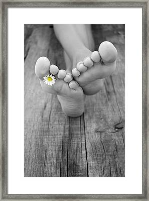 Barefoot Framed Print by Aged Pixel