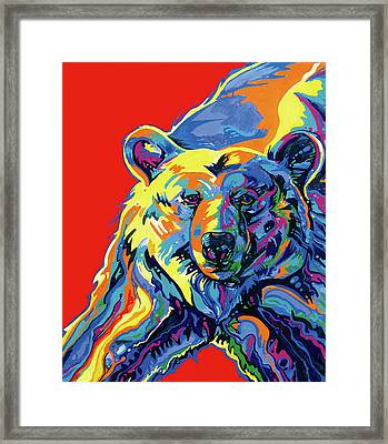 Barehead Framed Print by Derrick Higgins