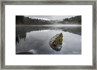 Barely Frozen Framed Print by James Wheeler