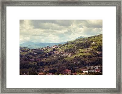 Barga In Alpi Apuane Mountains Tuscany Framed Print