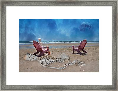 Bargaining With The Moon Framed Print by Betsy Knapp
