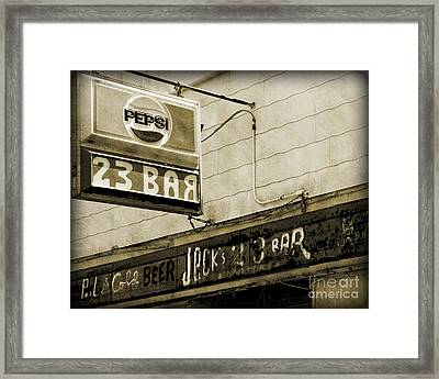 Framed Print featuring the photograph Barhopping At Jacks 2 by Lee Craig