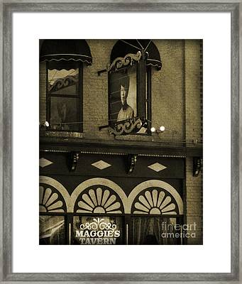 Framed Print featuring the photograph Barhopping At Maggies 2 by Lee Craig