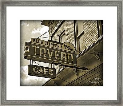 Framed Print featuring the photograph Barhopping At The Blue Slipper 2 by Lee Craig