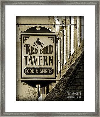 Framed Print featuring the photograph Barhopping At The Red Bird 2 by Lee Craig
