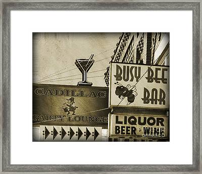 Framed Print featuring the photograph Barhopping Cadillac Style 2 by Lee Craig