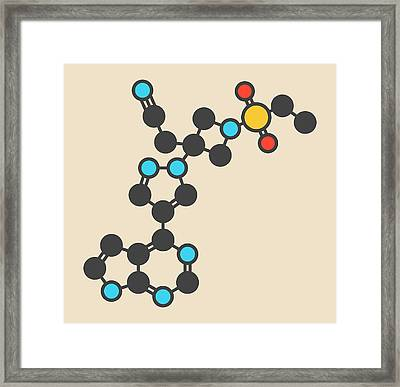 Baricitinib Janus Kinase Drug Molecule Framed Print by Molekuul