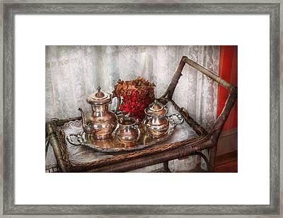 Barista - Tea Set - Morning Tea  Framed Print by Mike Savad