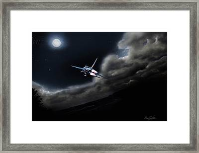 Bark At The Moon Framed Print by Peter Chilelli