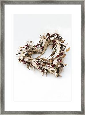 Bark Heart Framed Print