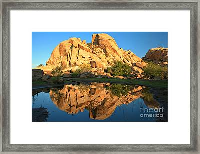 Barker Dam Pond Reflections Framed Print