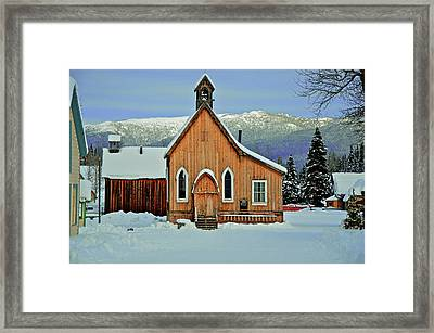 Barkerville Historic Town In Winter Framed Print