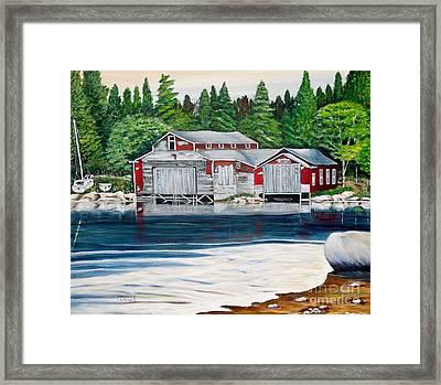 Barkhouse Boatshed Framed Print