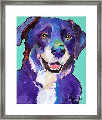 Barkley Framed Print by Pat Saunders-White