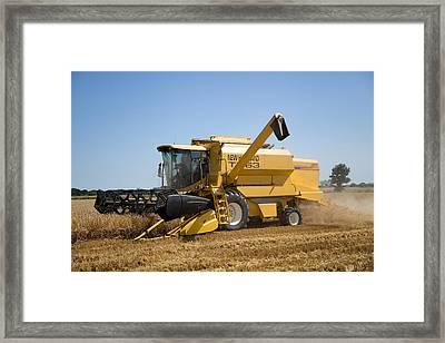 Barley Harvest 2 Framed Print by Paul Lilley