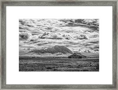Barn And Bear Butte Framed Print