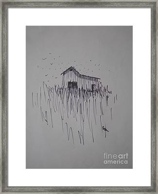 Barn And Birds Framed Print by Suzanne McKay