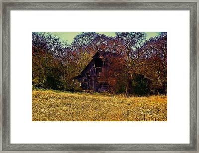 Barn And Diamond Reo-featured In Barns Big And Small Group Framed Print by EricaMaxine  Price
