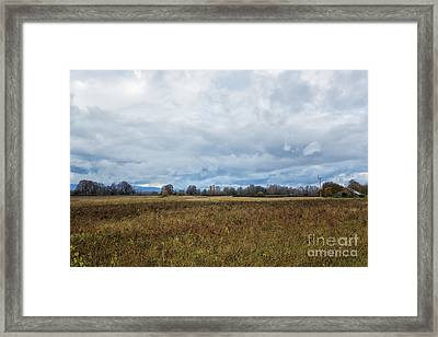 Barn And Field Framed Print by Belinda Greb