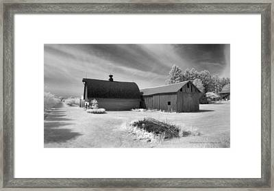 Barn And Grove On Hwy Z Framed Print