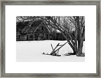 Barn And Plow Jefferson Nh Framed Print
