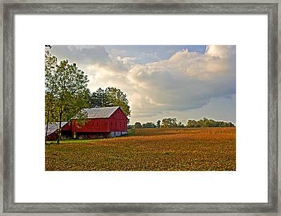 Barn And Sky Framed Print