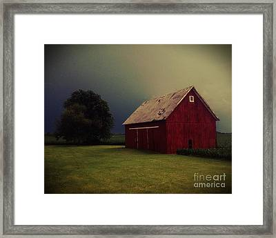 Barn And Tree Framed Print