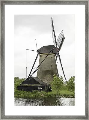 Barn And Windmill Kinderdijk Framed Print by Teresa Mucha