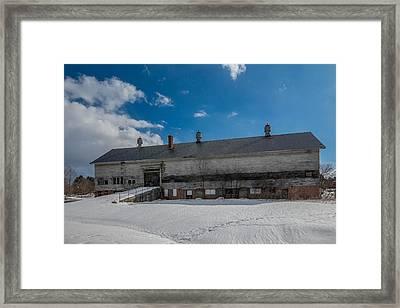 Barn At Amhi   7k00315 Framed Print by Guy Whiteley