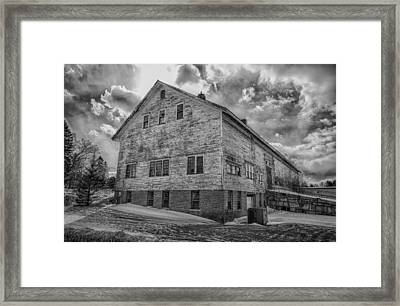 Barn At Amhi   7k00333 Framed Print by Guy Whiteley