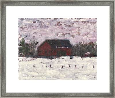 Barn At Myles Acres Framed Print by David Dossett