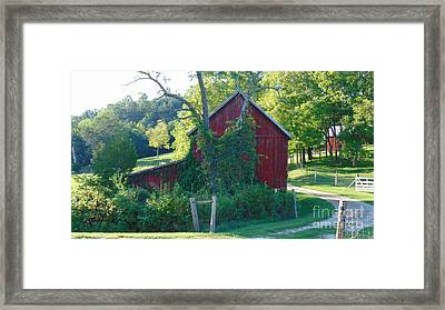 Barn At Piney River Framed Print