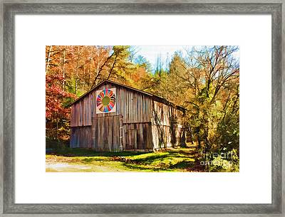 Barn At Red River Gorge Framed Print by Lena Auxier