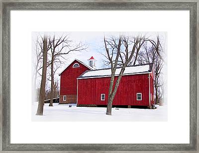 Barn At Tinicum Park Framed Print