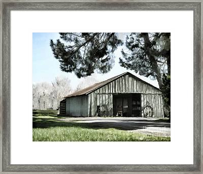 Barn At Vina Winery Framed Print