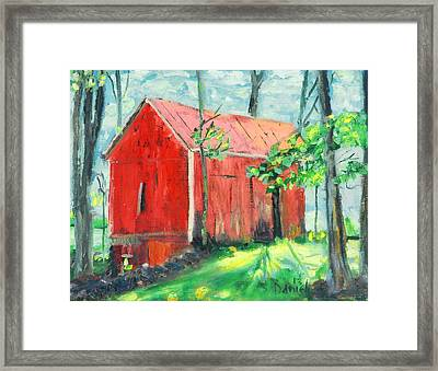 Barn At Walpack Framed Print