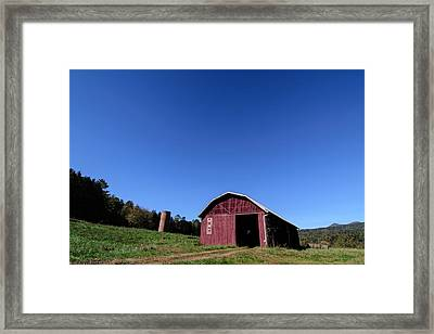 Barn At Warren Wilson College Framed Print by Hunter Ward